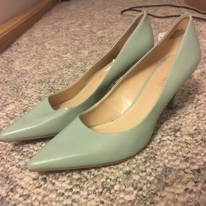 Nine West Tiffany Blue Kitten Heel Pumps